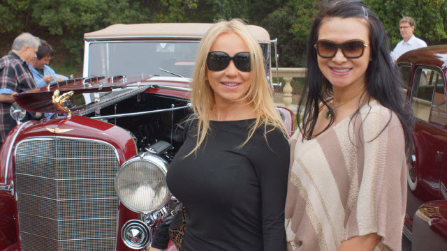 Ladies at Greystone Mansion Concours d'Elegance