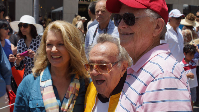 Mary Hart with George Barris Batmobile Rodeo Drive Concours d'Elegance