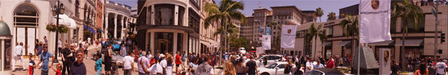 Antique Cars on Rodeo Drive at Concours d'Elegance