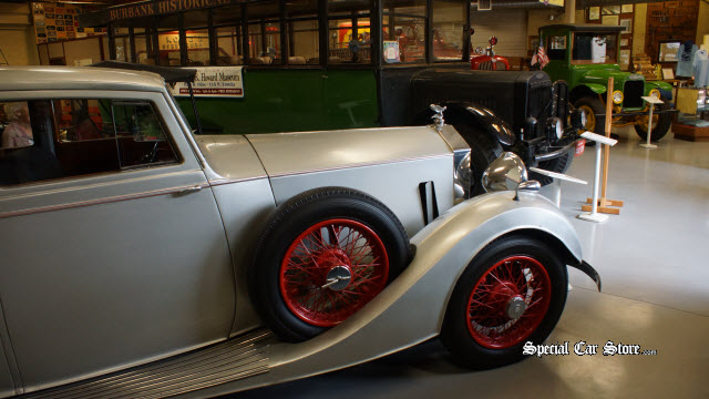 1937 Rolls Royce; and a 1923 Morland Passenger Bus & 1927 Morland Truck both built in Burbank at the Moreland Factory
