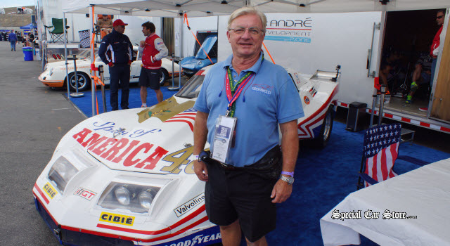 Wayne Ellwood Shares Corvette knowledge at Rolex Monterey Motorsports Reunion