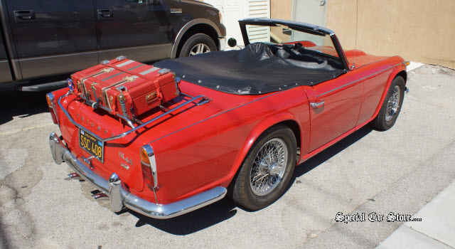 Triumph TR4A IRS parked at Peter Brock Book Signing AutoBooks-AeroBooks Burbank