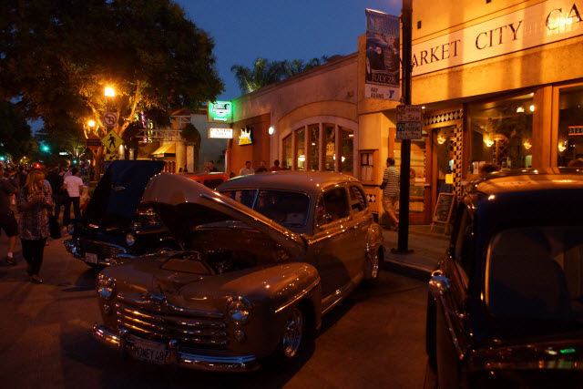 Evening at Downtown Burbank Car Classic 2012