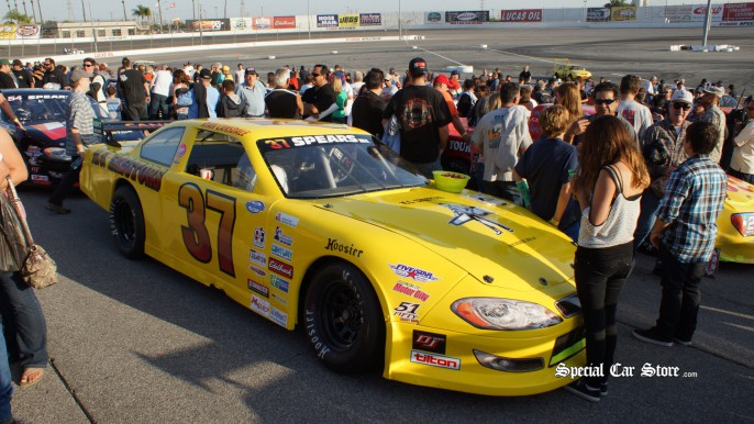 SRL S-2 Touring Series Car 37, Ryan Cansdale NASCAR Irwindale Speedway